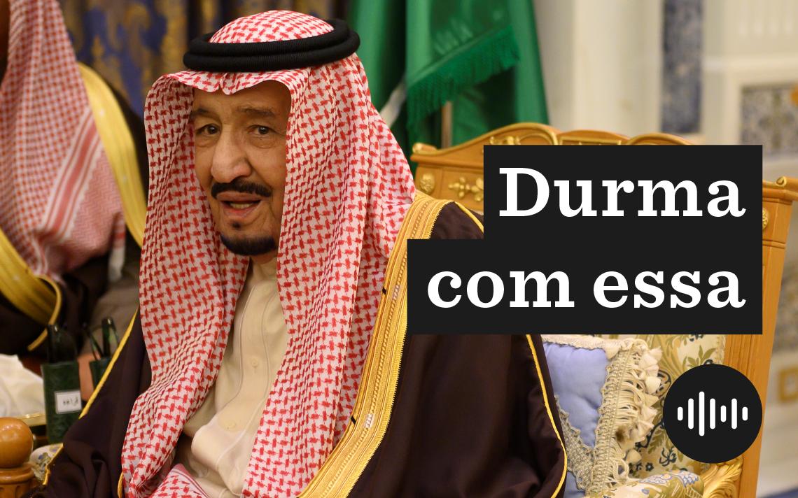 Salman bin Abdulaziz al Saud, o rei da Arábia Saudita, em encontro com o secretário de Estado americano em Riad