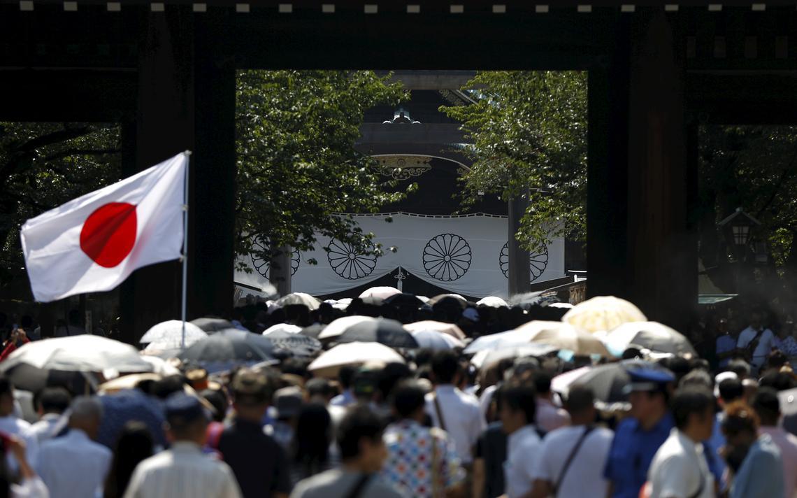 Cerimônia no santuário Yasukuni, em Tóquio