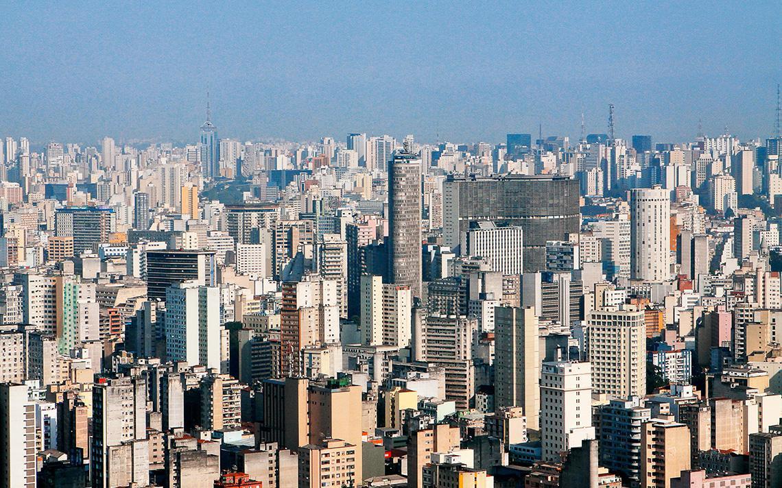 Vista da região central de São Paulo