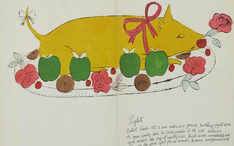 O livro de receitas satírico ilustrado por Andy Warhol
