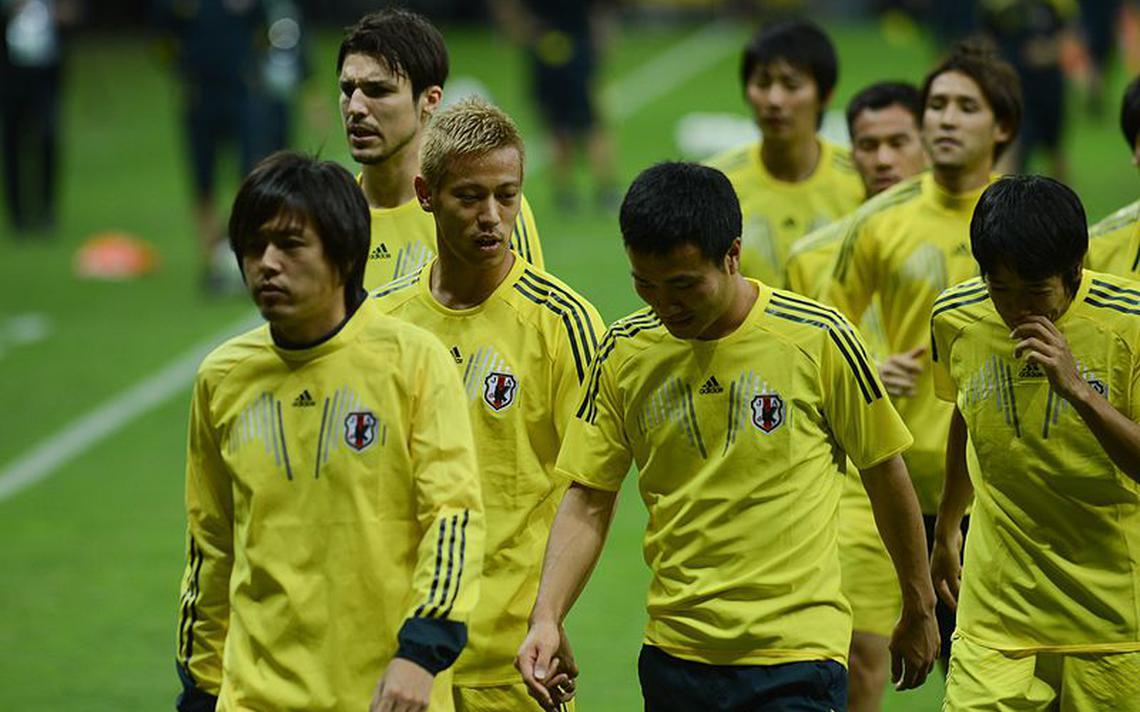 Seleção do Japão faz treino de reconhecimento do estádio Mané Garrincha, em Brasília, durante a Copa das Confederações de 2013