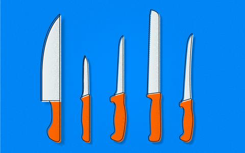Um guia de facas de cozinha: como escolher, usar  e guardar