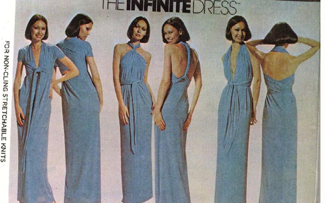 Foto de vestidos disponíveis no site Vintage Sewing Patterns