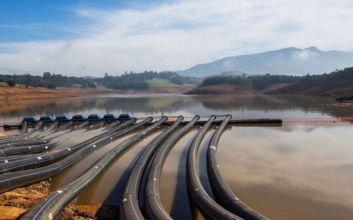 Captação de água no sistema Cantareira, em São Paulo