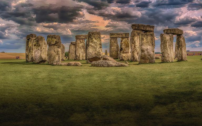 Stonehenge, no condado de Wiltshire, no interior da Inglaterra