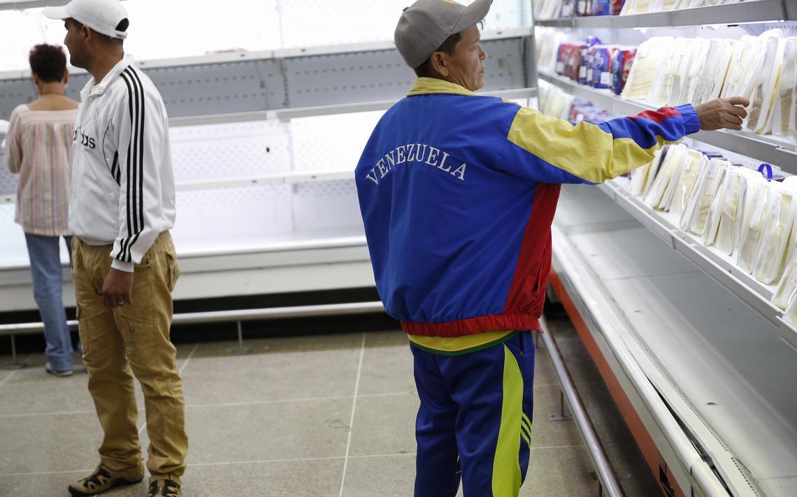 Supermercado vazio na Venezuela