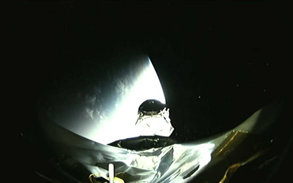 Tess, satélite da Nasa, no momento em que se separa do foguete Falcon 9