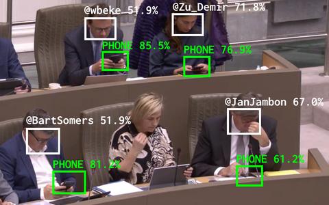 O robô que expõe políticos 'distraídos' com o celular