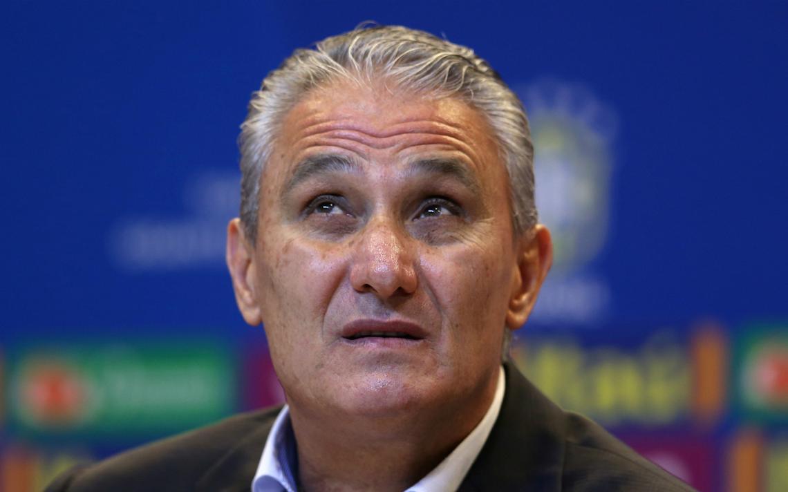 Tite, técnico da seleção brasileira, durante coletiva de imprensa em maio