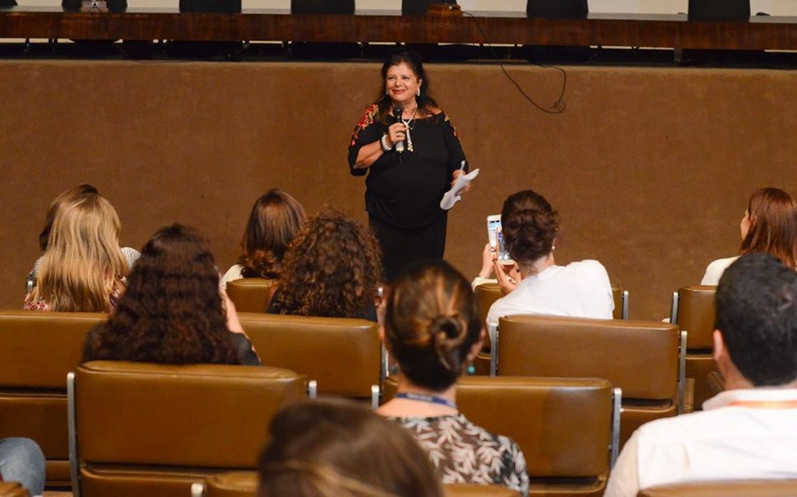 Luiza Trajano, dona do Magazine Luiza, em evento no qual defendeu cotas para mulheres em conselhos gestores