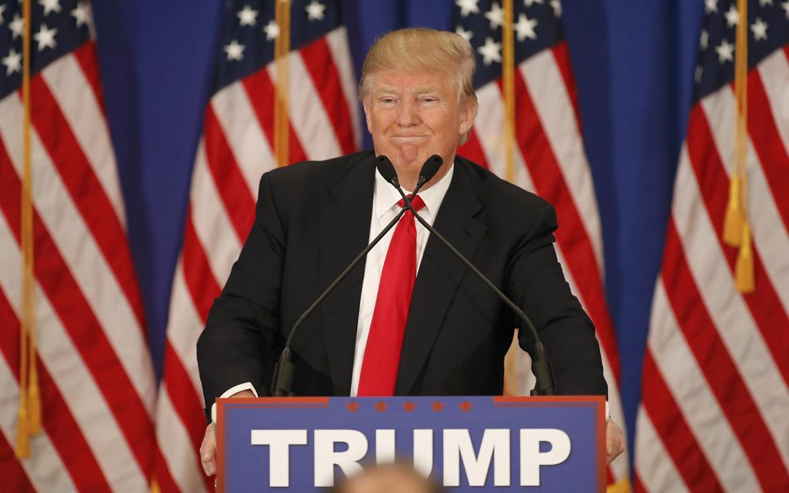 Trump em comício eleitoral