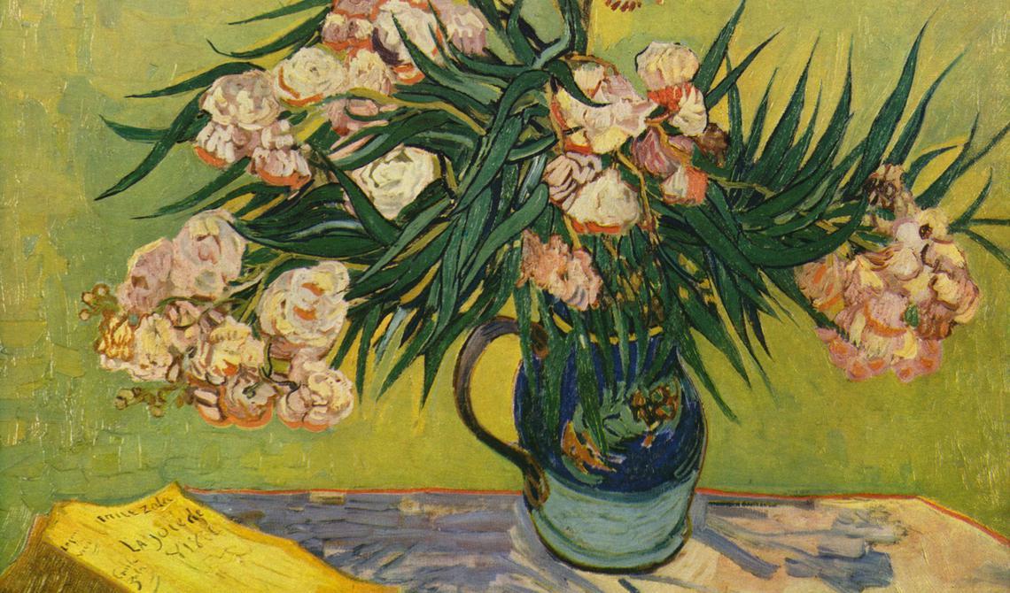 'Natureza morta com oleandro' (1888), de Vincent Van Gogh