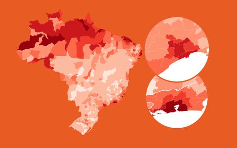 A distribuição geográfica das mortes por covid-19 no Brasil