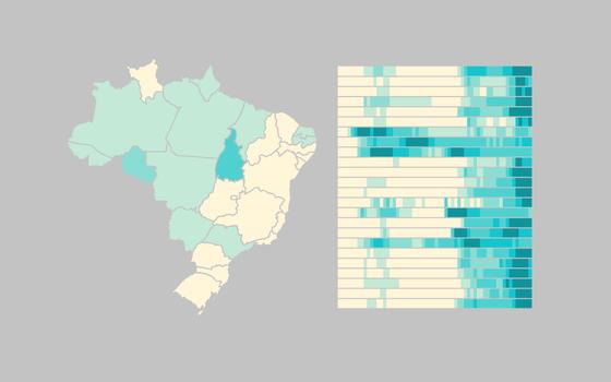 A evolução das buscas por coronavírus no Brasil e no mundo
