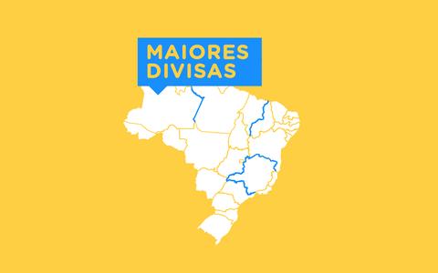 A extensão das divisas dos estados brasileiros