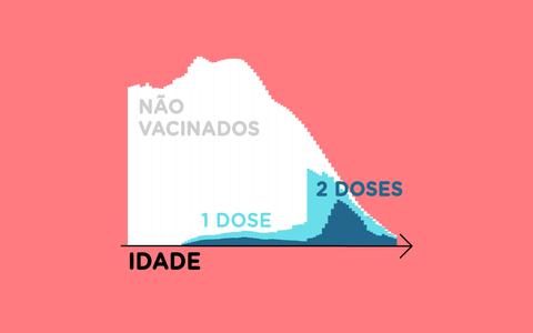 A idade dos vacinados contra a covid-19 no Brasil