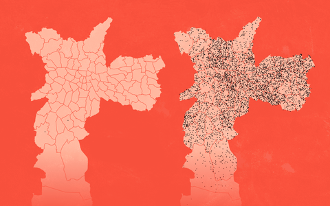 As mortes por covid-19 nos distritos da cidade de São Paulo