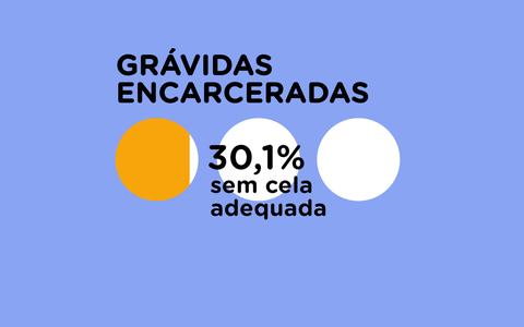 O número de gestantes, lactantes e crianças no sistema carcerário