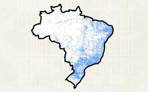 A distribuição geográfica das bibliotecas no Brasil