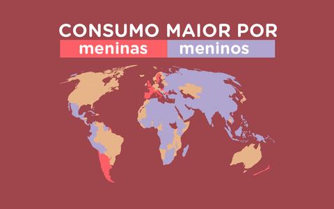 O consumo de cigarros por adolescentes em diferentes países