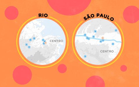 Onde estão as quadras das escolas de samba no Rio e em São Paulo