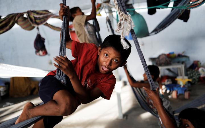 Criança venezuelana