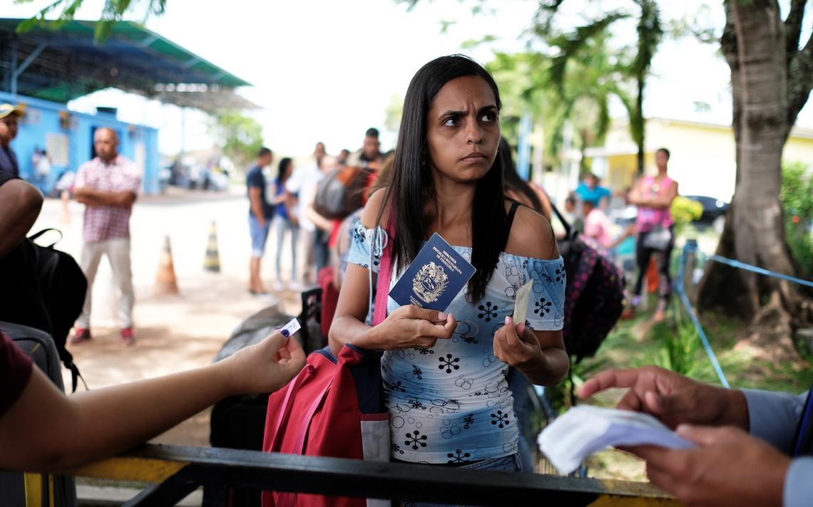 Imigrante venezuelana