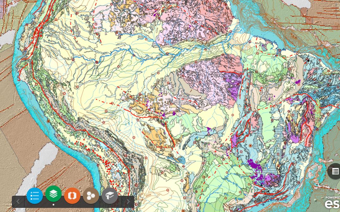 Versão on-line do mapa pode ser consultada no site do Serviço Geológico do Brasil