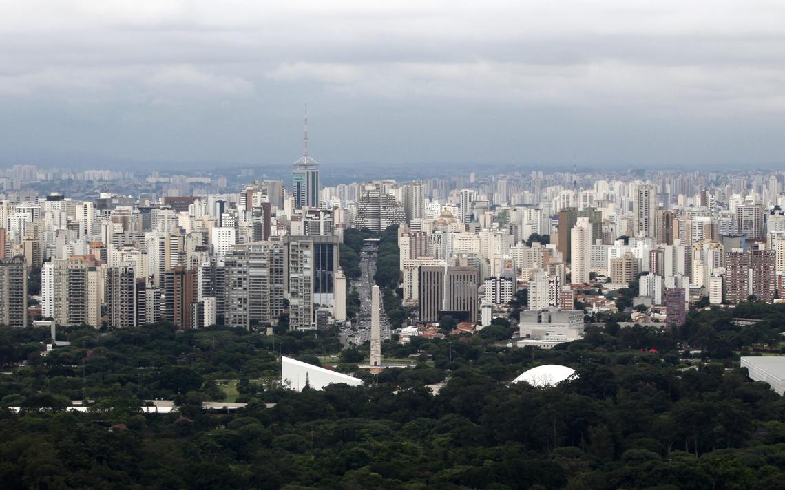 Visão aérea do Parque do Ibirapuera