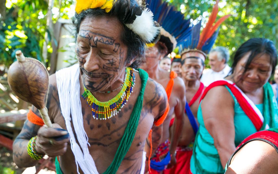Indígenas Waiãpi e Apalai recepciona comitiva do Ministério da Cultura no Museu Sacaca, em Macapá, em 2015
