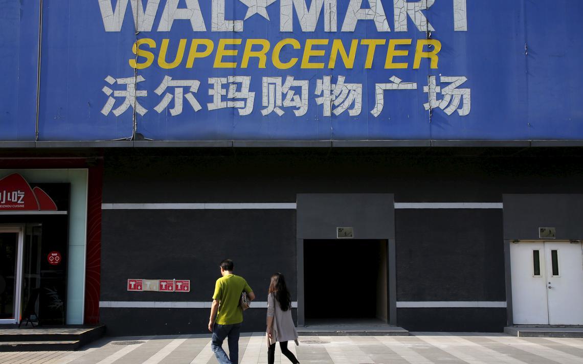 Fachada de loja do Walmart em Pequim, na China
