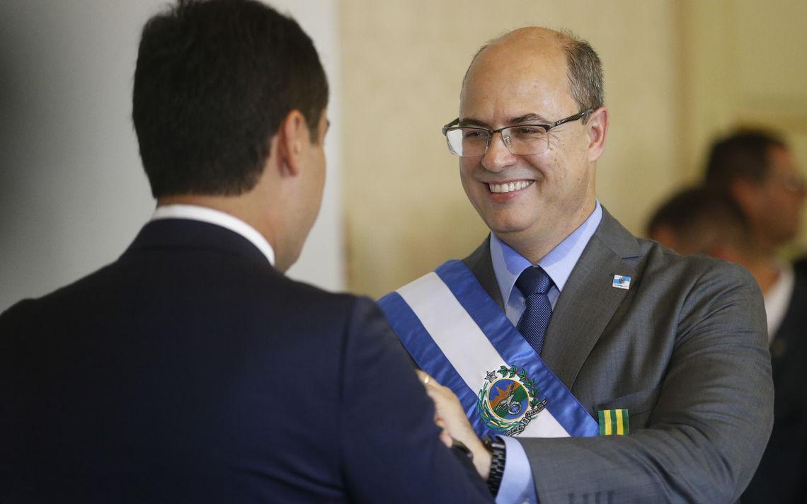 Wilson Witzel, na posse como governador do Rio de Janeiro, em janeiro de 2019