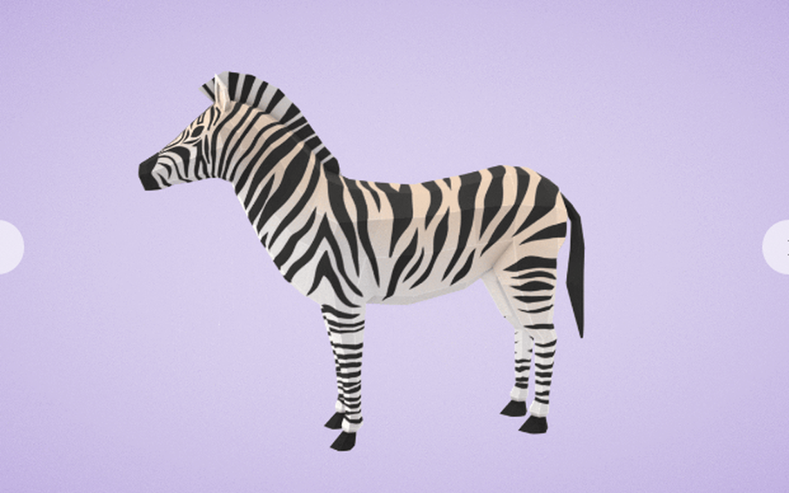 Zebra 3d do Google Poly