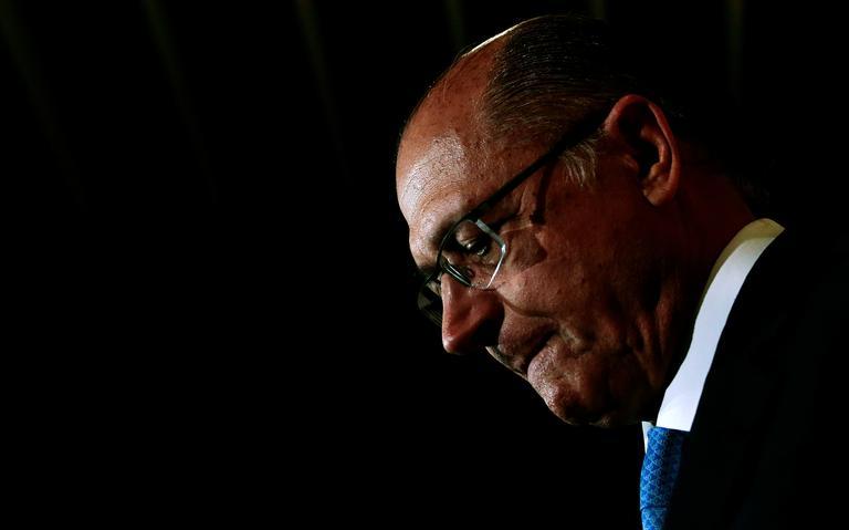 Governador de São Paulo, Geraldo Alckmin, em evento da Revista Veja