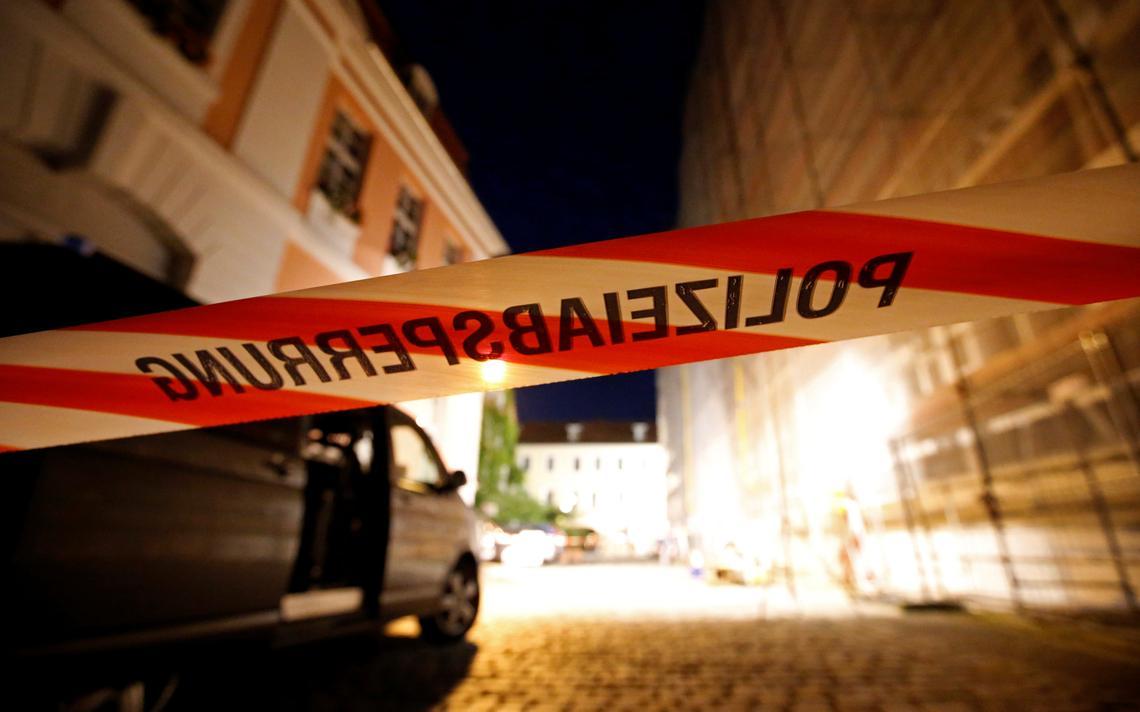 Fita de isolamento policial na Alemanha