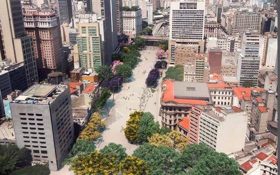 O que divide opiniões na reforma do Anhangabaú em São Paulo