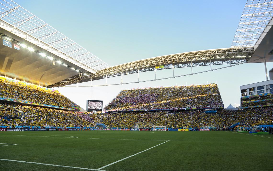 Torcida lota a Arena Corinthians na abertura da Copa do Mundo