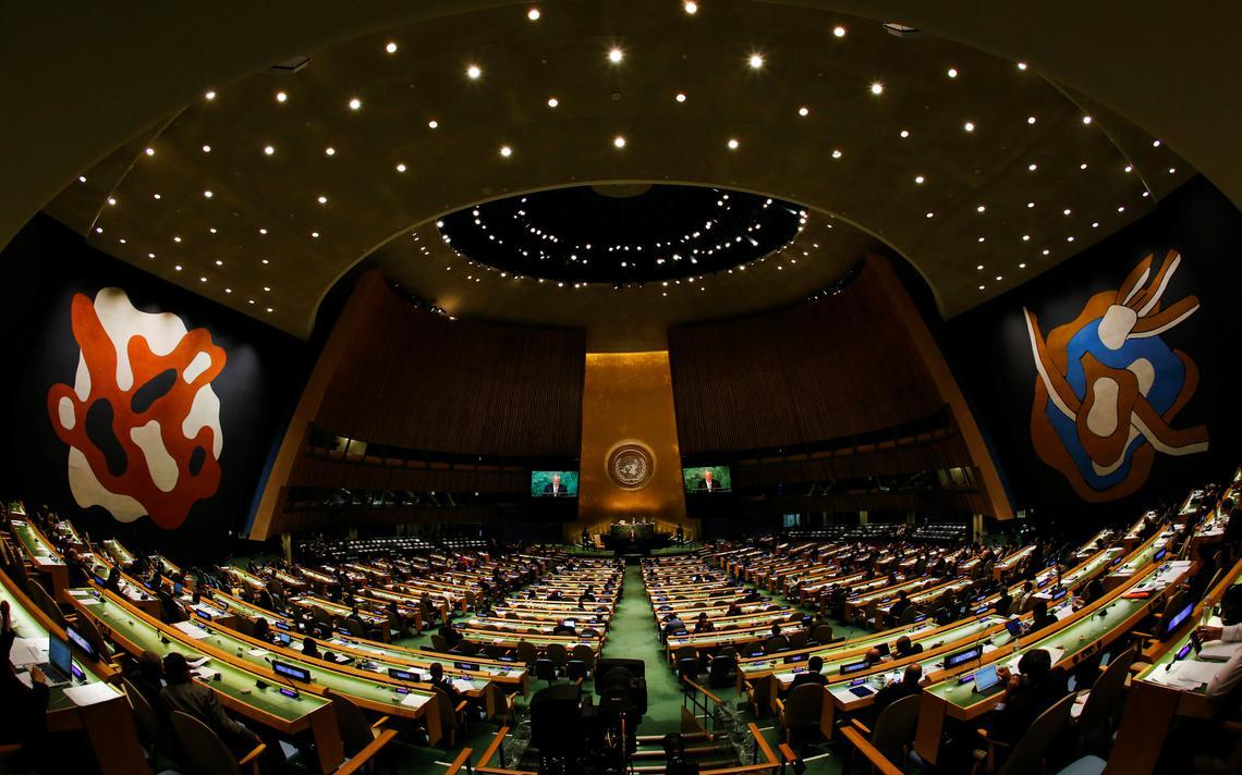 Presidente suiço fala em primeiro dia de atividades da Assembleia Geral nas Nações Unidas