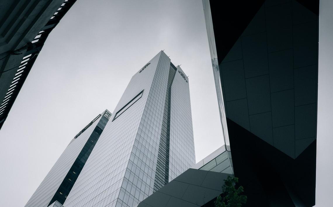 Fachada de prédios comerciais