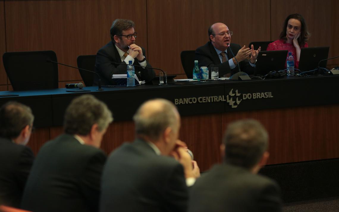 Presidente do Banco Central durante anúncio das medidas