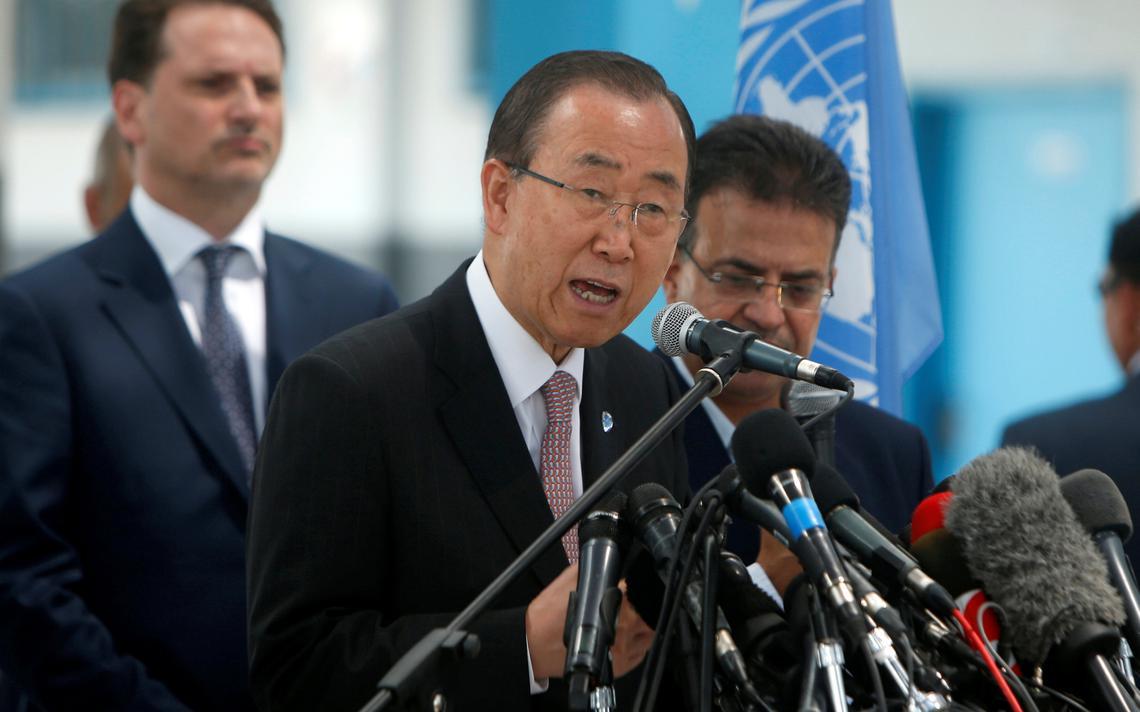 Ban Ki-moon fala em evento na Palestina