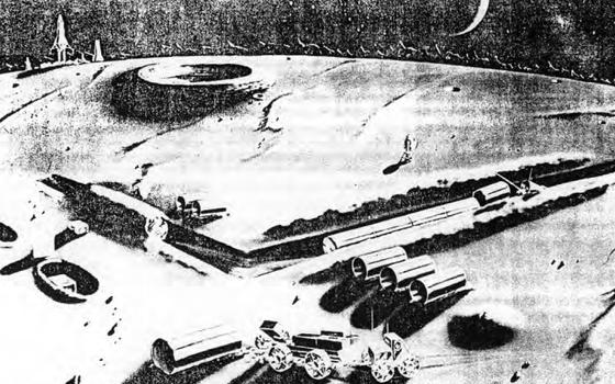 O plano secreto para construir uma base militar na lua em 1960 com um reator nuclear e um trator espacial