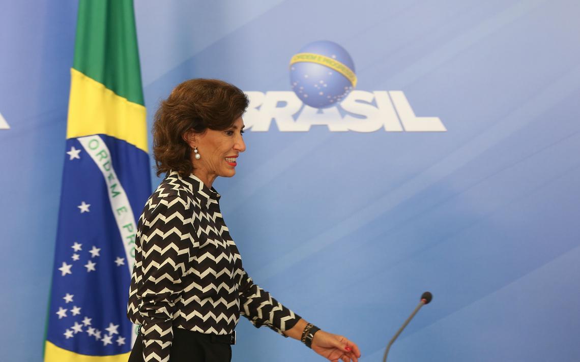 Presidente do BNDES durante entrevista em Brasília
