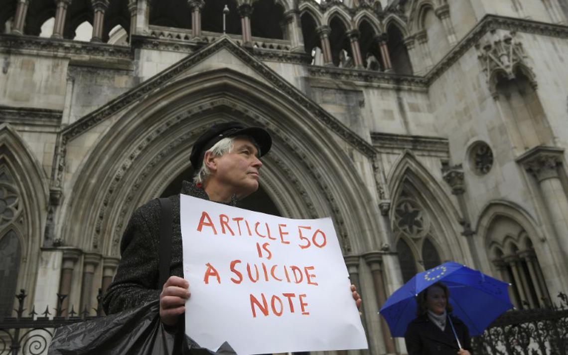 Cartaz contra a evocação do artigo 50