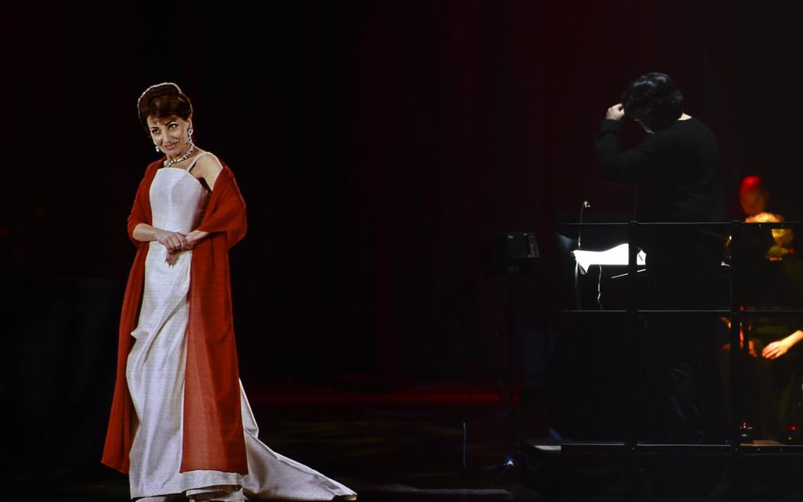 Holograma de Maria Callas na turnê 'Callas in concert'
