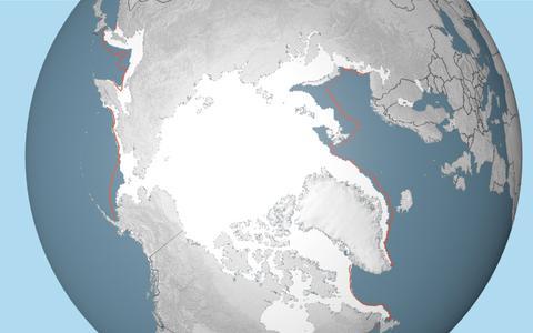Menos gelo no Ártico: a evolução do tamanho da calota polar