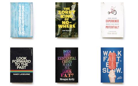 O artista que cria capas de autobiografias de anônimos