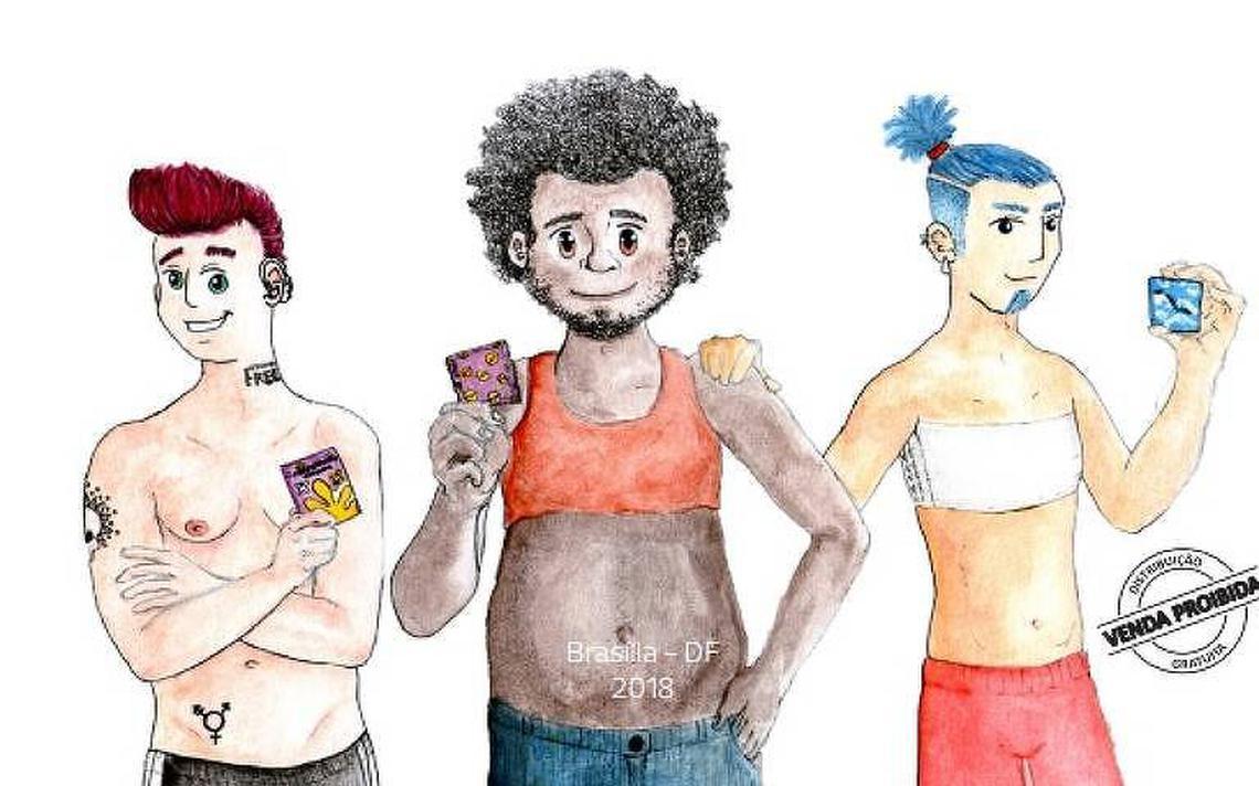 Arte presente na cartilha voltada a homens trans
