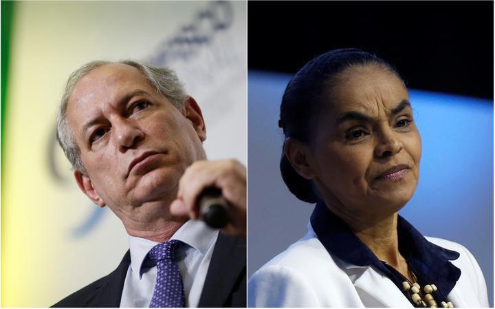 Pré-candidatos Ciro Gomes e Marina Silva