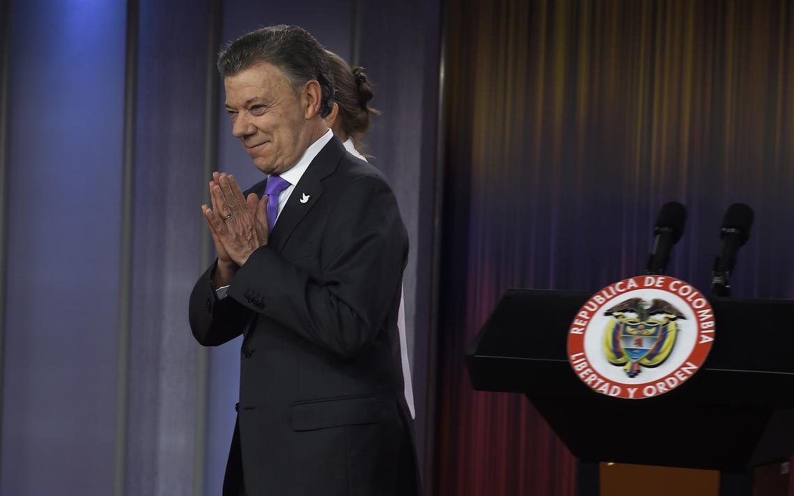 Presidente da Colômbia após entrevista na Casa de Nariño